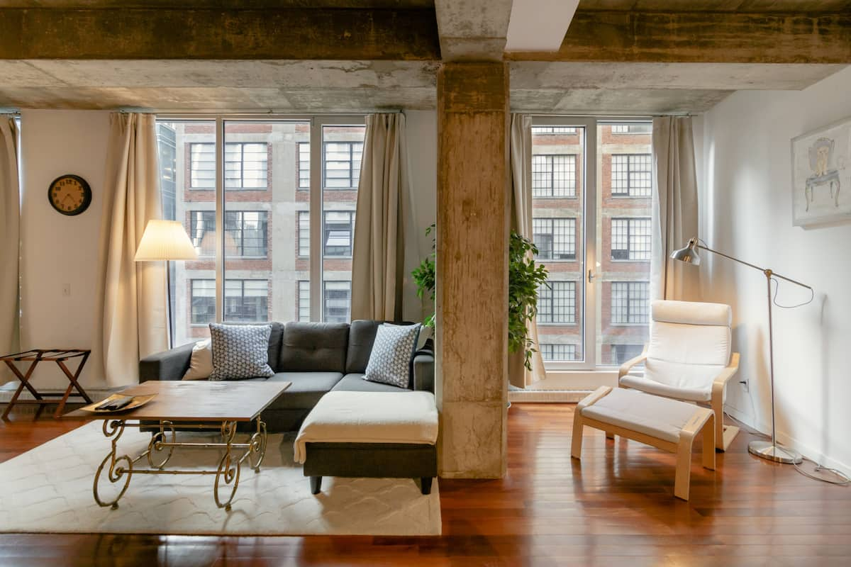 Walk to Old Port from This Industrial Loft Studio