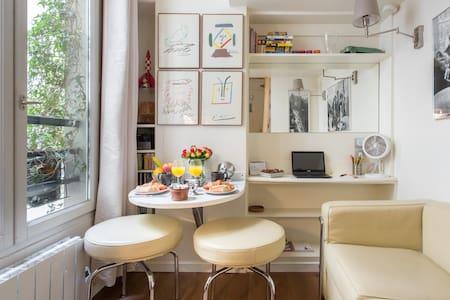Charmant petit studio parisien au cœur du Marais, catégorisé chambres d'hôtes.