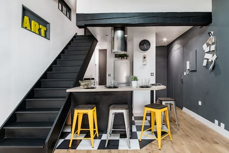 Loft Apartment in the Heart of Toulouse with Parking