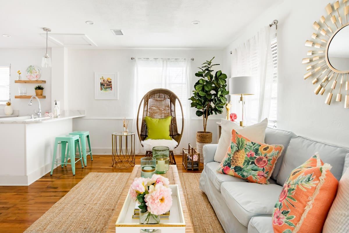 Get a Little Glam in a Retro Palm Beach-Style Boudoir