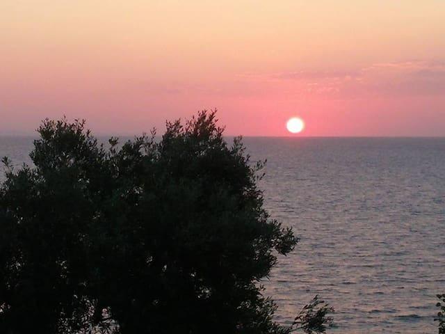 Private balcony to the AEGEAN SEA - Luxury villas