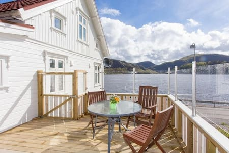 Modern house in Farsund, Norway, great sea view