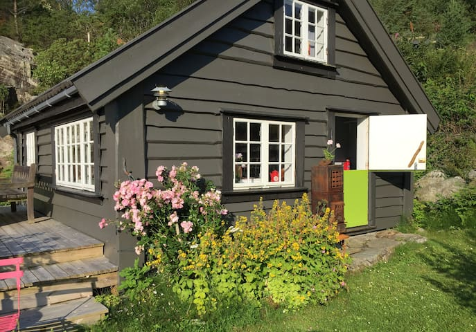 Small romantic cabin by the Fjord.