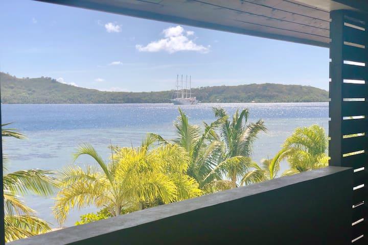 Bora Bora Lagoon View Modern Apartment