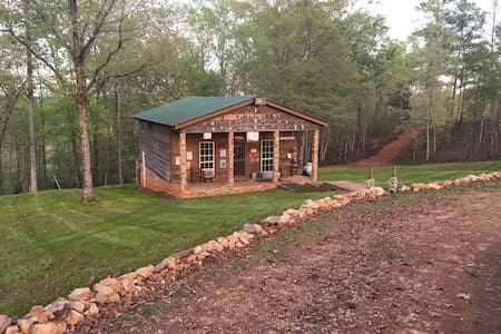 Rustic country cabin in the woods