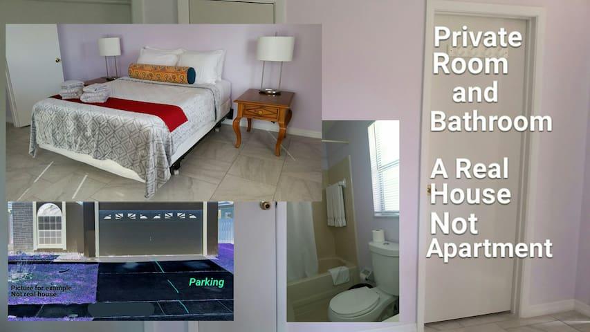 The Petty Knoll/La Lomita: Private room & Bathroom