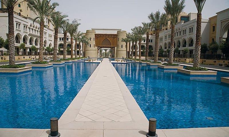 Luxury apartment & garden with Burj Kalifa View