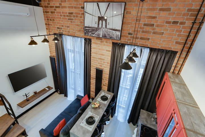 Urban 2-Level Loft * Krasnoselskaya * 3 Vokzala