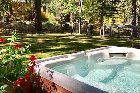 Stylish cozy getaway w/ hot tub and private patio