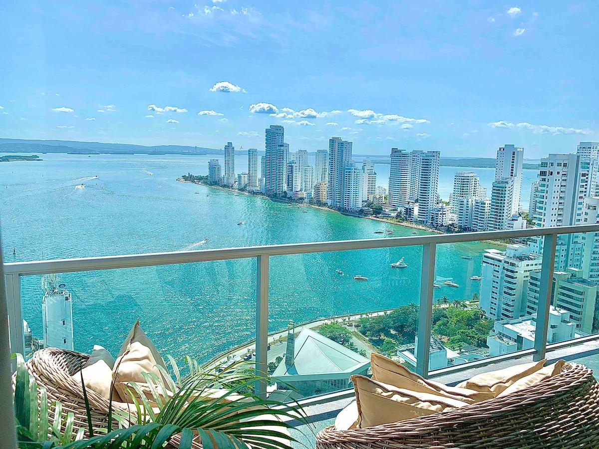 Luxurious Apartment  29th Floor  Fantastic View!