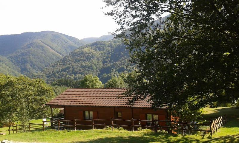 Casa de madera de 80 m2 útiles.