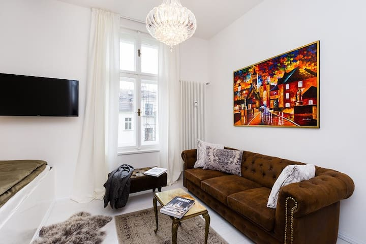 Deluxe, relaxing apartment nearby Vltava river