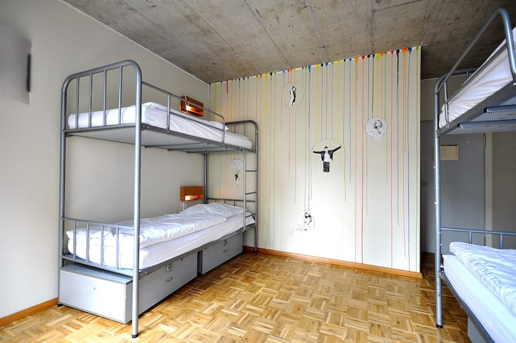 Single Bed in Mixed Dormitory Room (4 Adults)