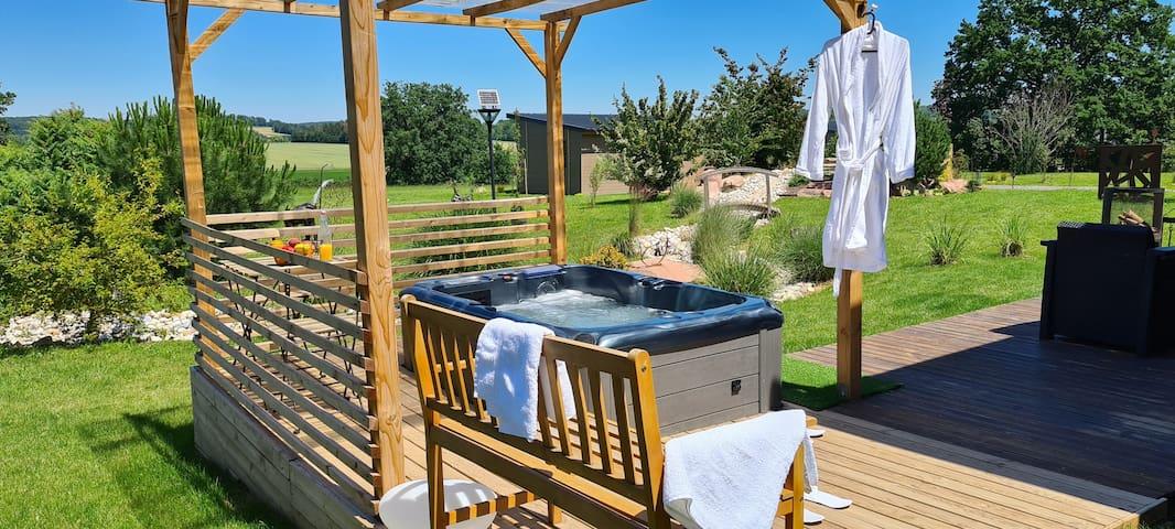 Cottage-Jacuzzi-Countryside view-Cottage végétal