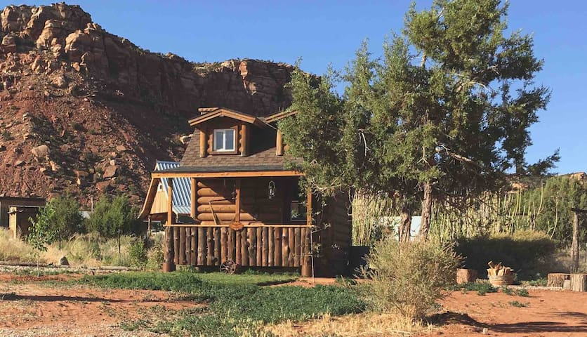 Old West Tiny Cabin House Coral Pink Ranch