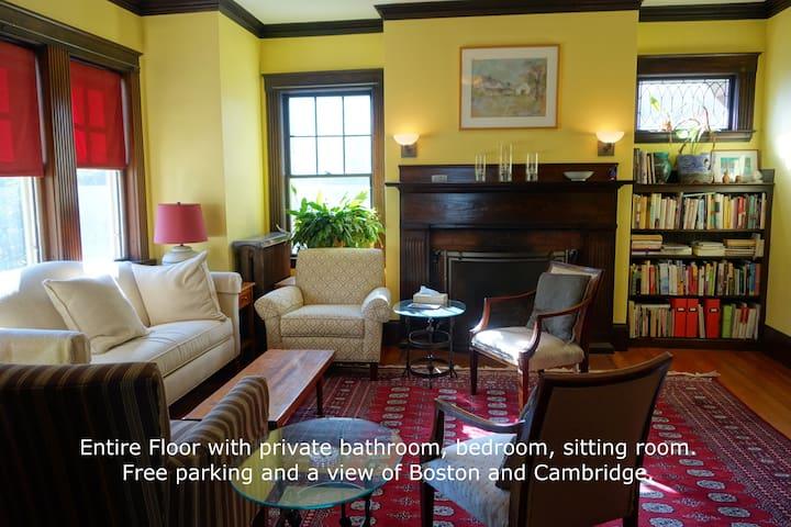 Private 3 Room Suite– bedroom, den, bath & parking
