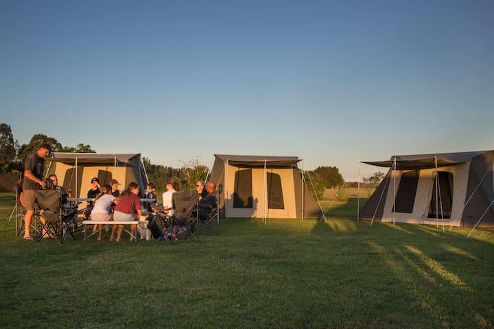 Camping at Rivershore Resort- Upto 12 guests