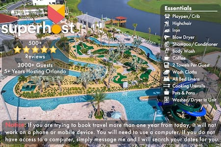 A-5 Miles to Disney-FREE Water Park-Gated Resort