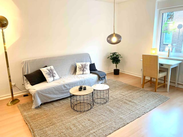 Bright flat close to Münster's Harbour and MCC