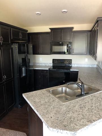 New condo with amazing location and self check in