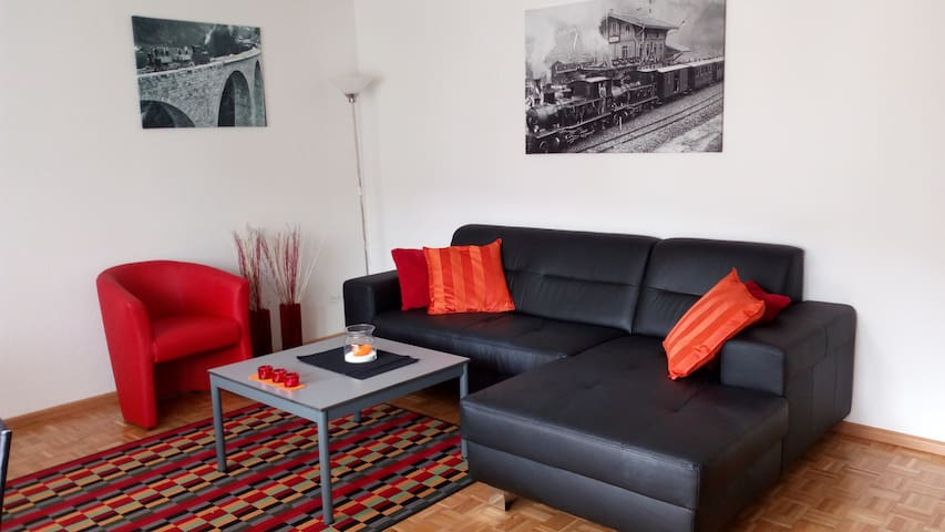 Large, 4.5 rooms, sunny apartment in the Alps