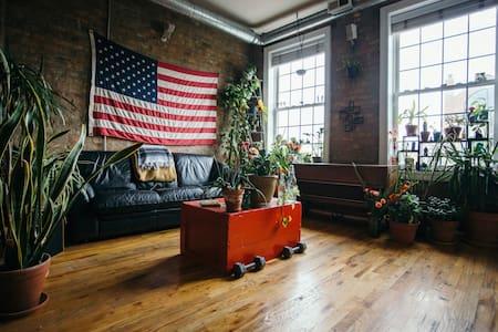 Private Room in a Sunny Plant Filled Chicago Condo
