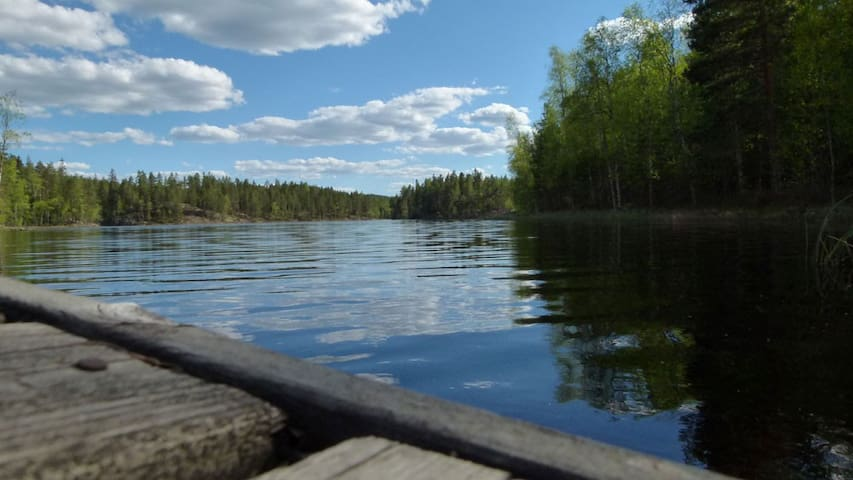2018 renovated cottage by lake,  sauna and boat