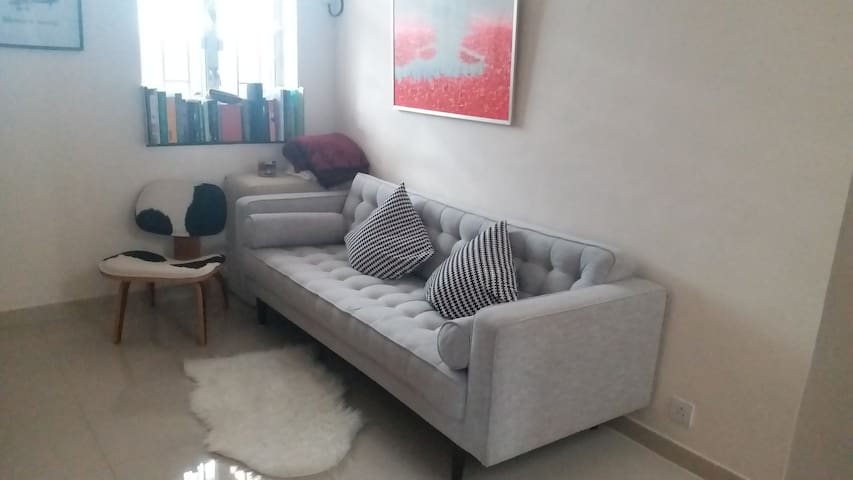 Beautiful flat in a peaceful village well located