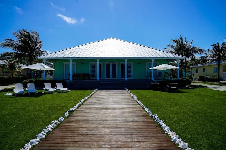 Villa O is nestled on a semi private beach in the prestigious Resort World Bimini property