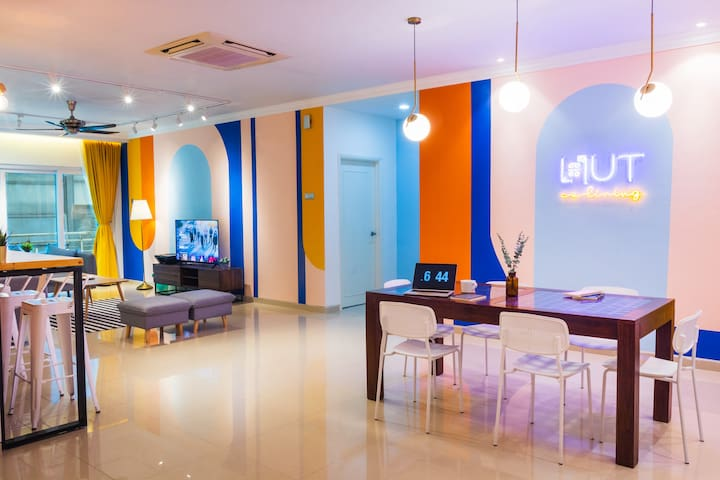 #3 Queen Room @HUT Coliving KLCC3    500 Mbps WiFi