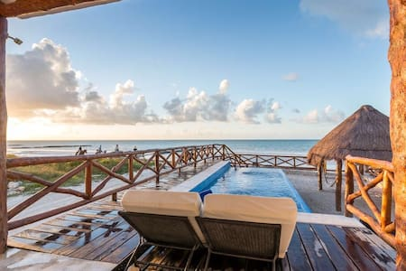 Casa Libelula Beachfront house. Holbox