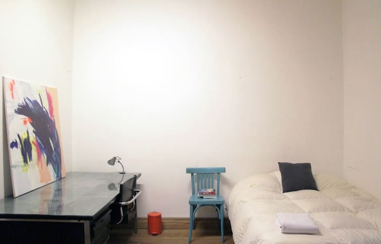 Cozy patio studio in shared flat