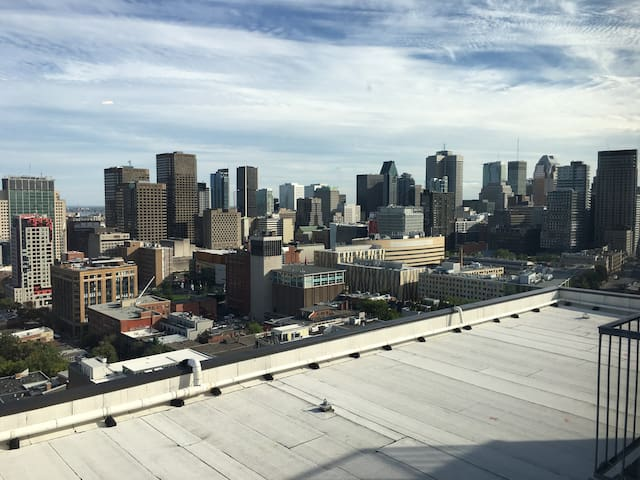 Amazing View of Downtown Montreal