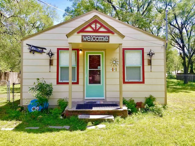 Entire Little House with Vintage Airplane Theme