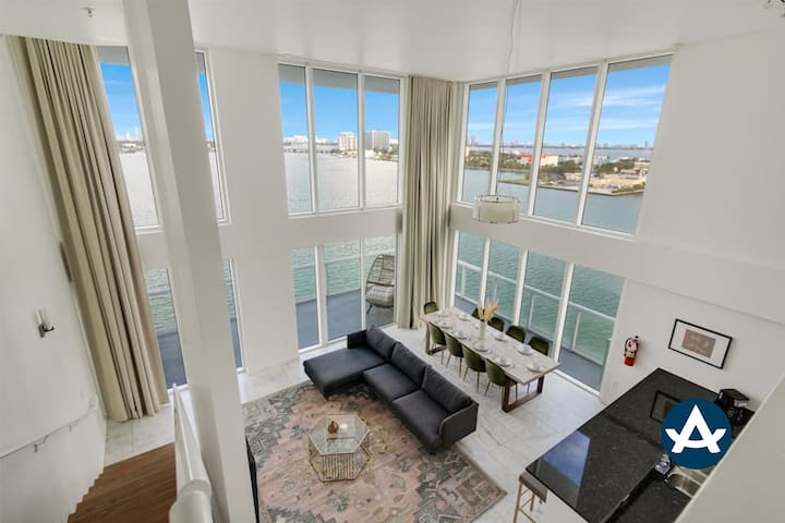 Sextant | 2-Story Waterfront Penthouse #14 | Heated Pool | 10 mins to Beach