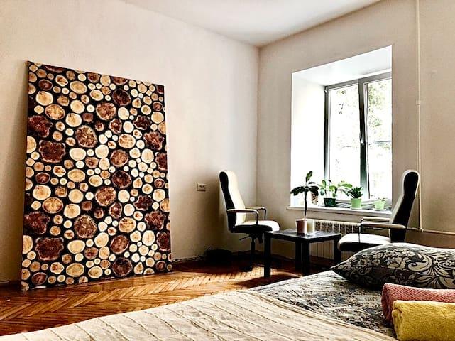 Minimalist room on Rubinshteina street