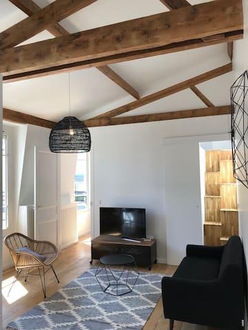 Chambre dans bel appartement type Loft «Campagne à Paris»