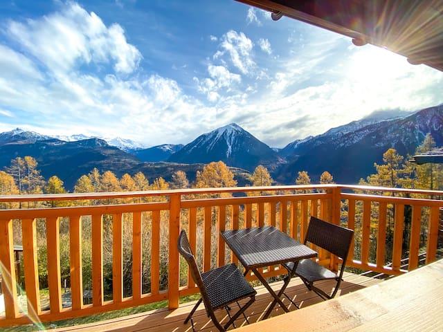 Chalet Bellavista - a balcony on Swiss Alps
