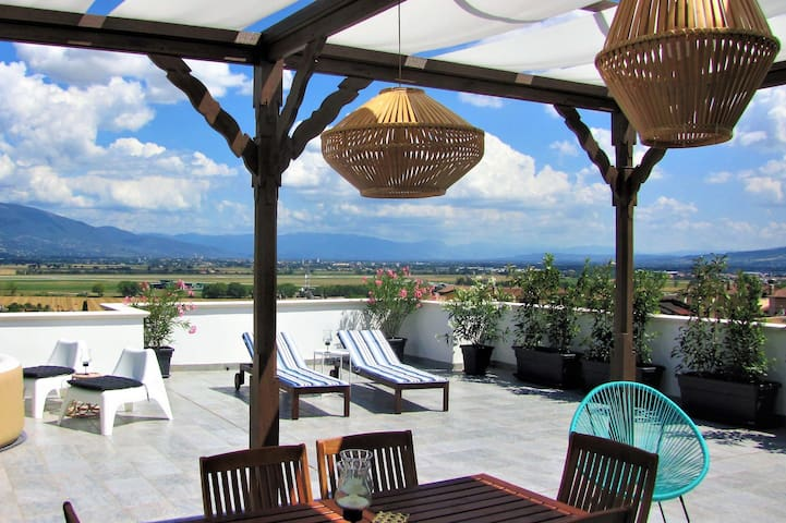 Private Rooms, wonderful view on Assisi