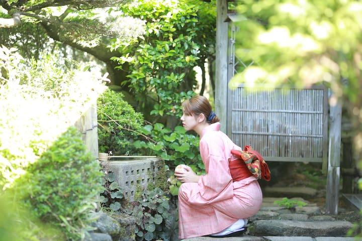 偌大房子附日式花园!最多可容纳7个人  #HH3