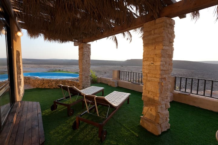 Two bedroom villa with pool and beautiful view
