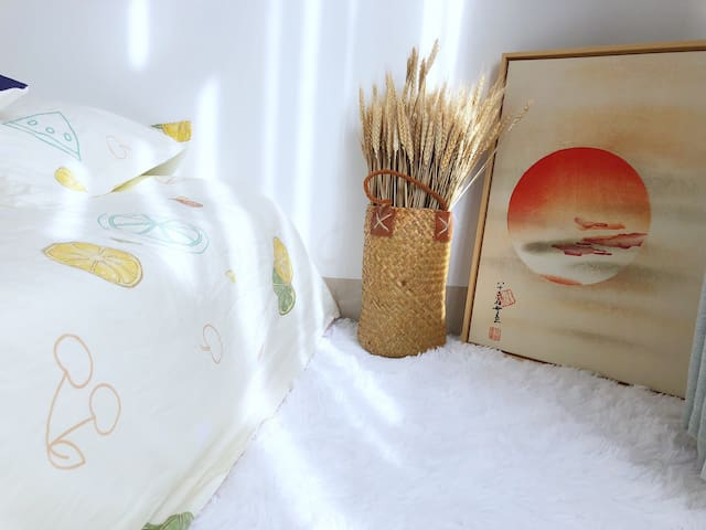 东山岛铜陵小客栈-room2,榻榻米1.8大床,可拍照,配投影仪,近南门湾,南屿