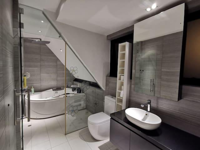 Private lift, jacuzzi steam bath, kitchen & train