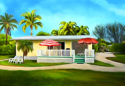 The Sunny Shell Basket Cottage. Minutes to beach!!
