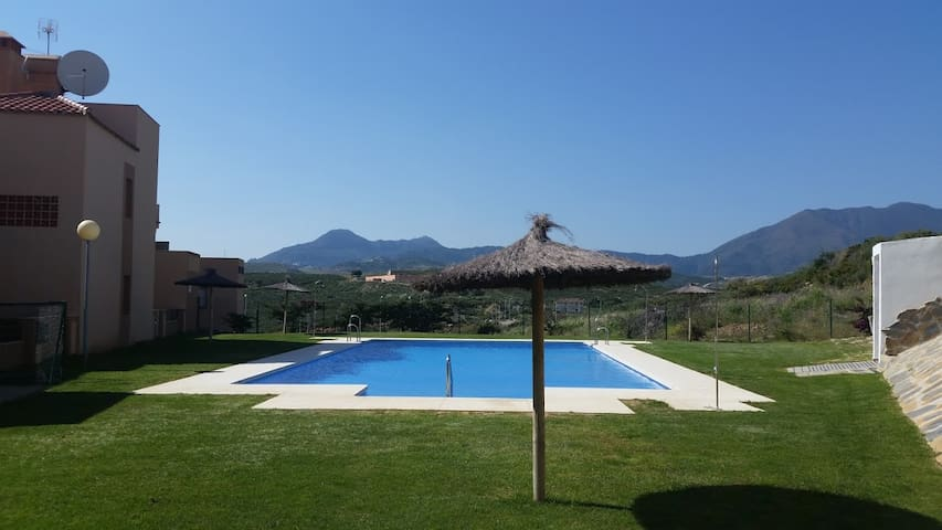 Casares front line golf 3 bed apartment with pool