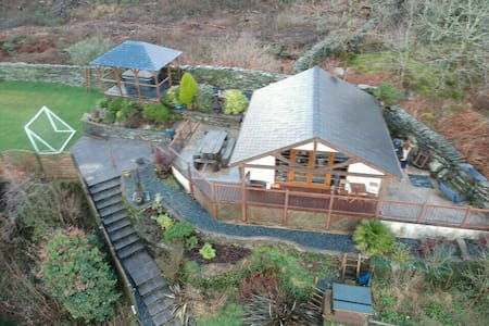 'Cwt Haul' Chalet, stunning views from the Hot tub