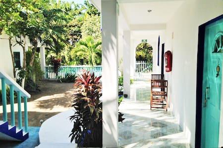 Casa Azul- Hotelito Holbox 1st room