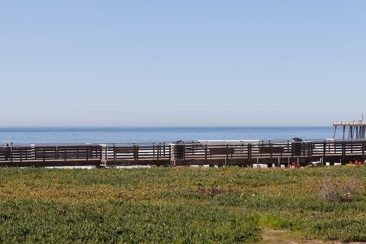 Pismo Beach Sand is steps away.