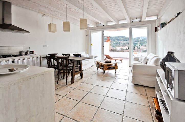 Terrace flat with river view