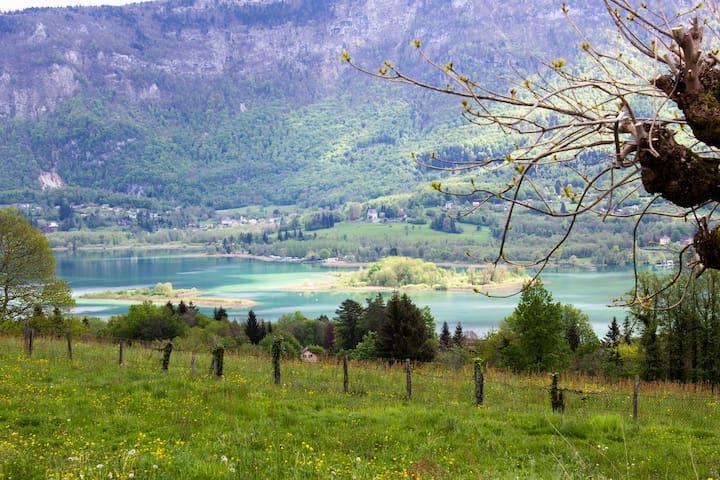 Lodge breathtaking view on Aiguebelette lake